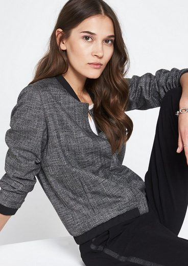 Comma Classic Blouson With Houndstooth Pattern