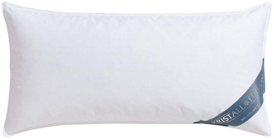 Federkopfkissen Kristall Edition Haeussling Fullung 85 Federn 15 Daunen Bezug 100 Baumwolle 1 Tlg Online Kaufen Otto