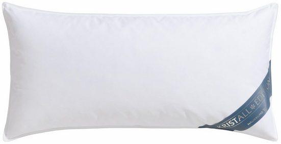 Federkopfkissen, »Kristall Edition«, Haeussling, Füllung: 85% Federn, 15% Daunen, Bezug: 100% Baumwolle, (1-tlg)
