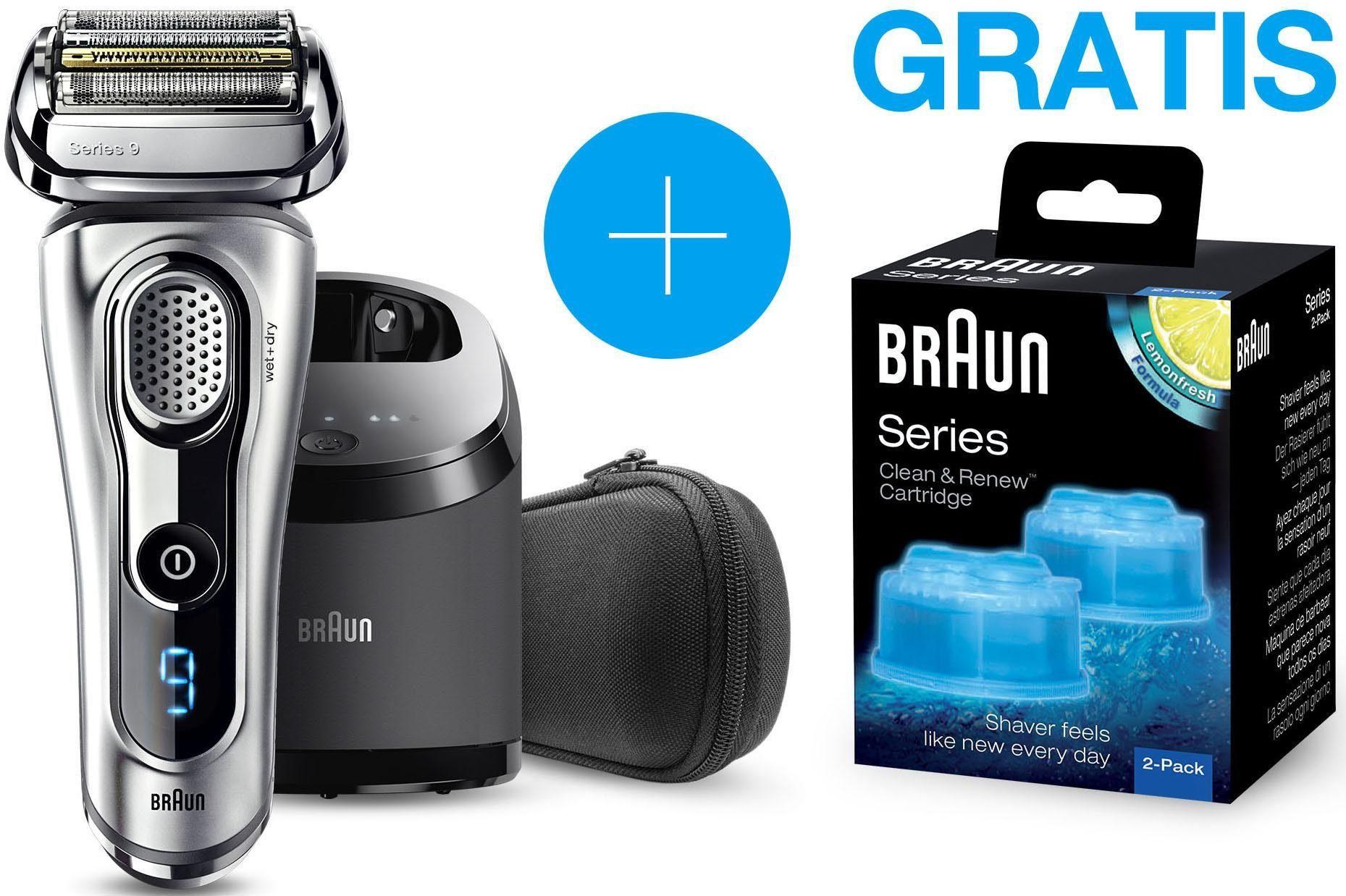 Braun Elektrorasierer Series 9 9290cc, Wet&Dry mit gratis CCR2 Reinigungskartuschen