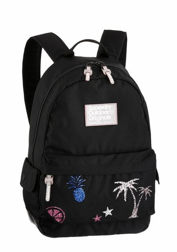 superdry cityrucksack glitter montana mit modischen. Black Bedroom Furniture Sets. Home Design Ideas
