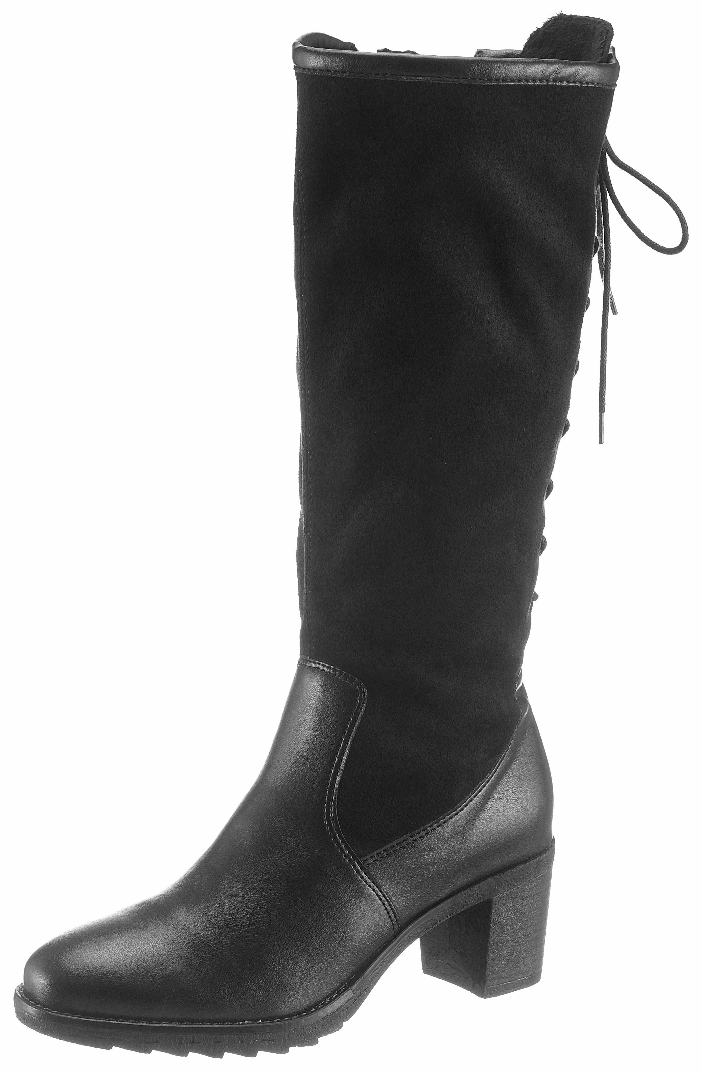 Jenny Stiefel, mit XL-Schaft variabel durch Schnürung online kaufen  schwarz