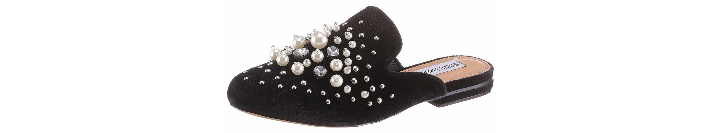 STEVE MADDEN Clog, mit aufwendiger Perlenverzierung