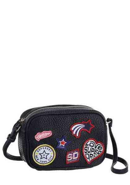Superdry Umhängetasche »PACIFIC DELWEN CROSS BODY«, mit modischen Patches