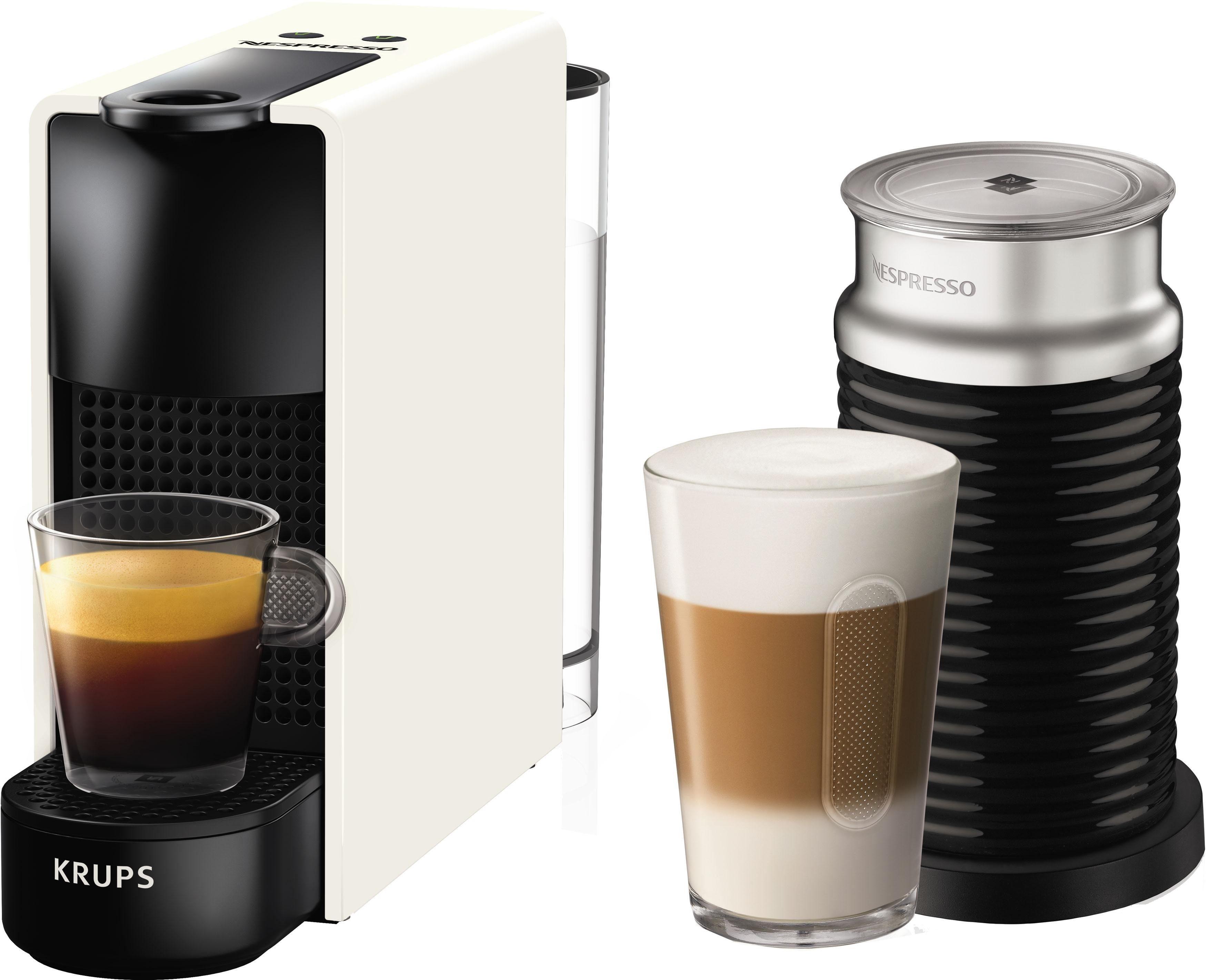 Nespresso Kapselmaschine NESPRESSO XN1111 Essenza Mini Bundle, mit Aeroccino Milchaufschäumer