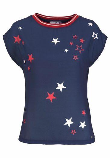 AJC T-Shirt, mit Sternenprint in Chiffon Qualität