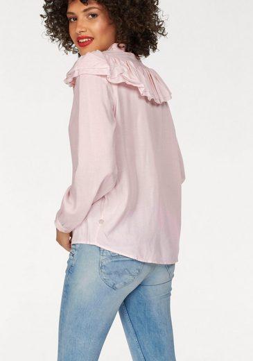 Pepe Jeans Schluppenbluse SHALLY, mit trendigen Rüschen