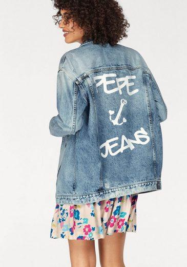 Pepe Jeans Jeansjacke SKYLAR, mit großem Rückenprint