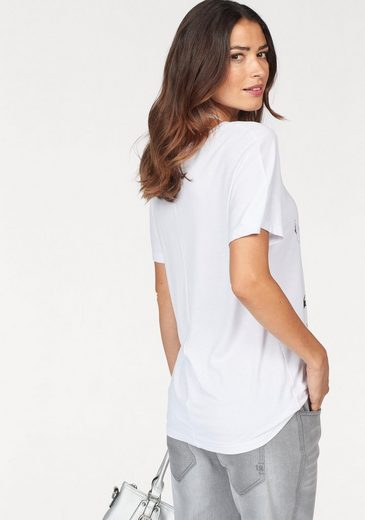 Laura Scott T-Shirt, mit modischem Glanzdruck