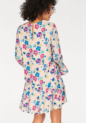 Pepe Jeans Print Dress Calista, Floral Design In Flashy