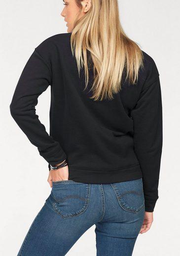 Lee® Sweatshirt, mit trendiger Schnürung am Ausschnitt