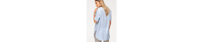Cross Jeans® Longbluse, mit Leinen