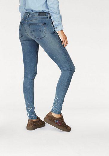 tommy jeans skinny fit jeans nora mit farbflecken online. Black Bedroom Furniture Sets. Home Design Ideas