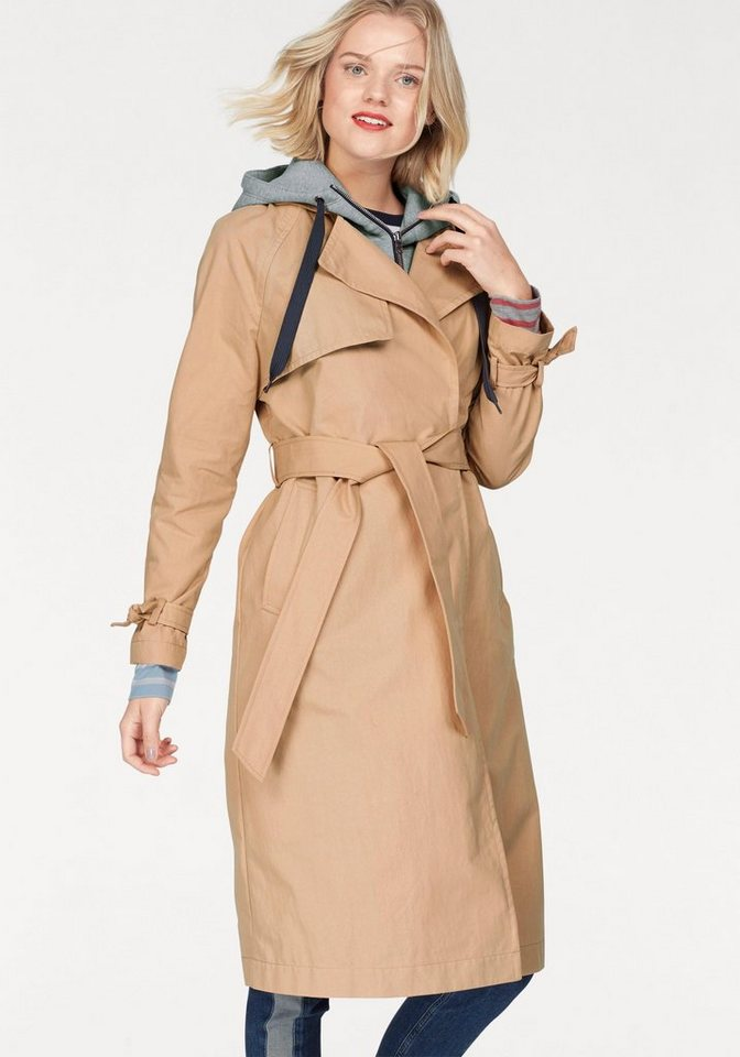 TOMMY JEANS Trenchcoat mit abnehmbarer Sweatkapuze   Bekleidung > Mäntel > Trenchcoats   TOMMY JEANS