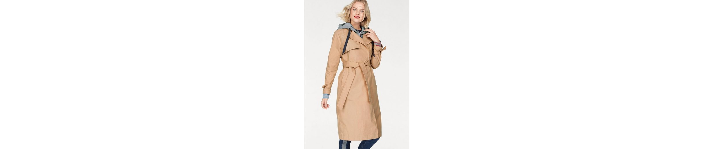 TOMMY JEANS Trenchcoat, mit abnehmbarer Sweatkapuze