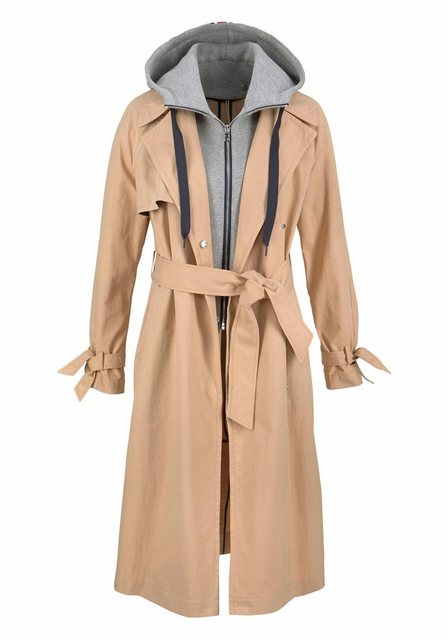 tommy jeans -  Trenchcoat mit abnehmbarer Sweatkapuze