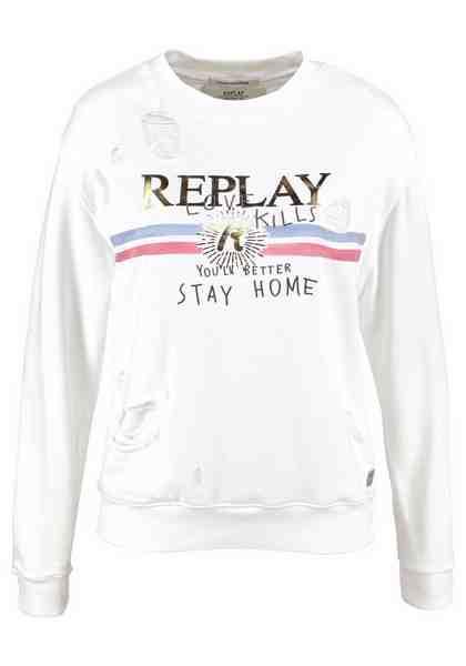 Replay Sweatshirt, in Used Optik
