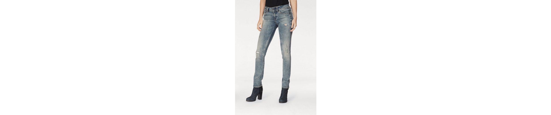 G-Star RAW Straight-Jeans Midge Saddle, im Used-Look