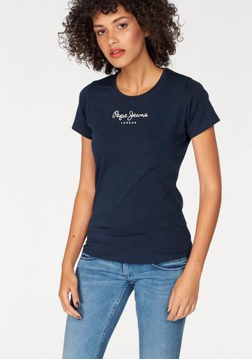 Pepe Jeans T-Shirt NEW VIRGINIA, mit Logo-Print