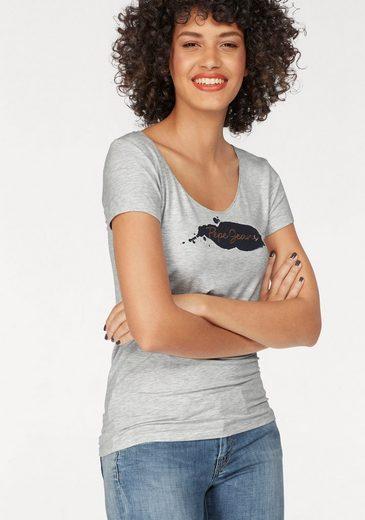Pepe Jeans T-Shirt VIOLETA, mit Metallic-Print