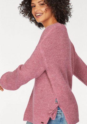 Pepe Jeans Strickpullover BOSSA, aus Wolle mit Schleifen