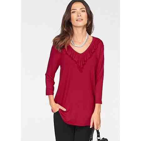 Laura Scott T-Shirt mit Rüschendekolleté