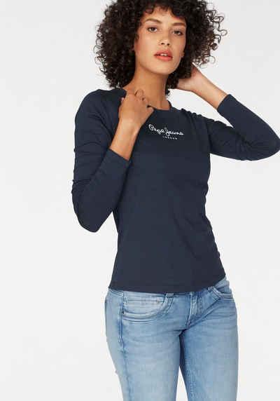 Pepe Jeans Langarmshirt »NEW VIRGINA L/S« mit Logo-Print