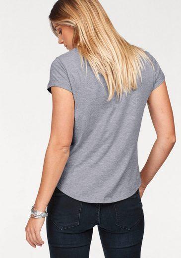 Cross Jeans® T-Shirt, Hinten etwas länger als vorne