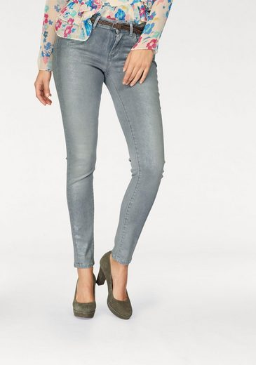Pepe Jeans Skinny-fit-Jeans PIXIE, mit Hologramm-Metallic-Beschichtung
