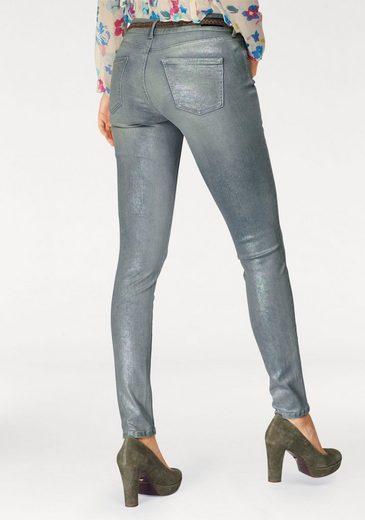 Pepe Jeans Skinny-fit-Jeans PIXIE, mit Hologramm-Metallic-Beschichtung