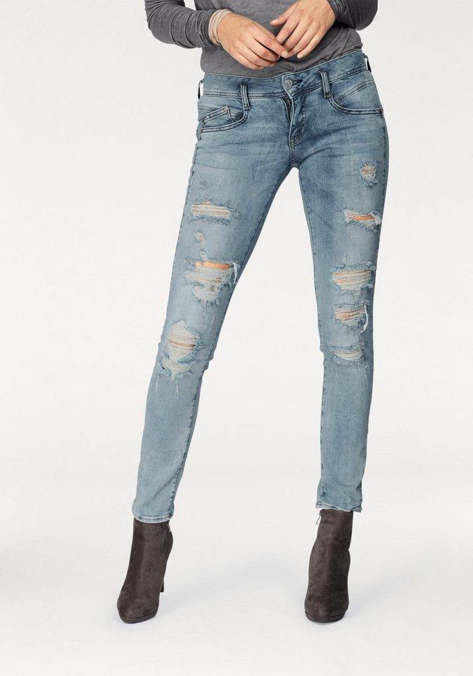 herrlicher slim fit jeans gila slim mit seitlichem. Black Bedroom Furniture Sets. Home Design Ideas