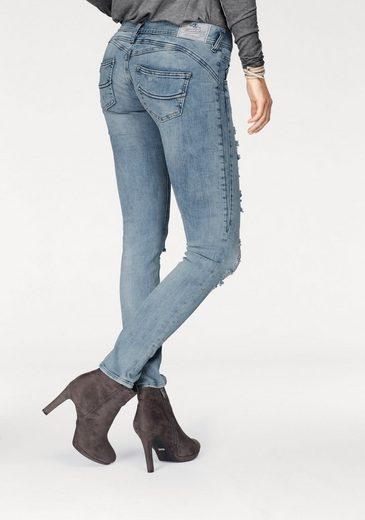 Herrlicher Slim-fit-Jeans GIla Slim, mit seitlichem Keileinsatz