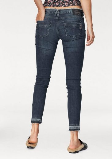 Herrlicher Ankle-Jeans Touch Fancy, mit Fransen am Bund