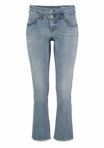 Herrlicher Bootcut-Jeans Baby Cropped, mit ausgefranstem Saum