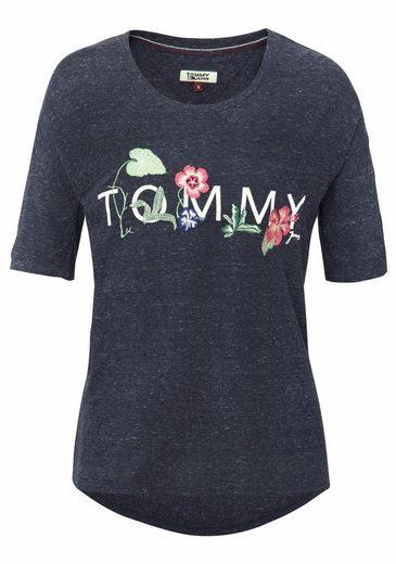 TOMMY JEANS Rundhalsshirt, mit aufwendiger Applikation