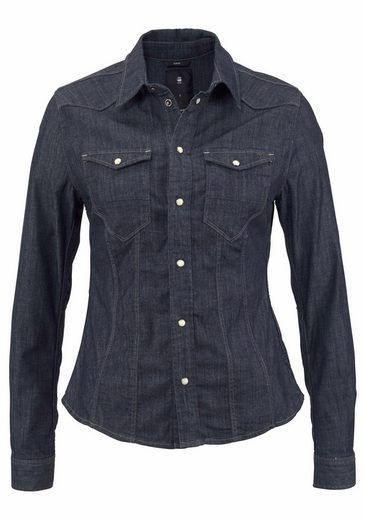 G-star Raw Jeansbluse With Breast Pockets