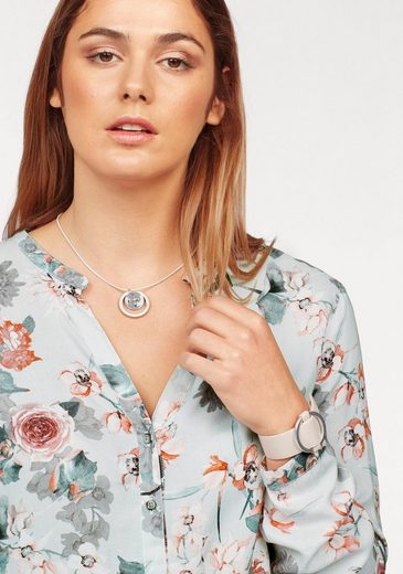 Cross Jeans® Slip Blouse With Elastic Band At The Hem