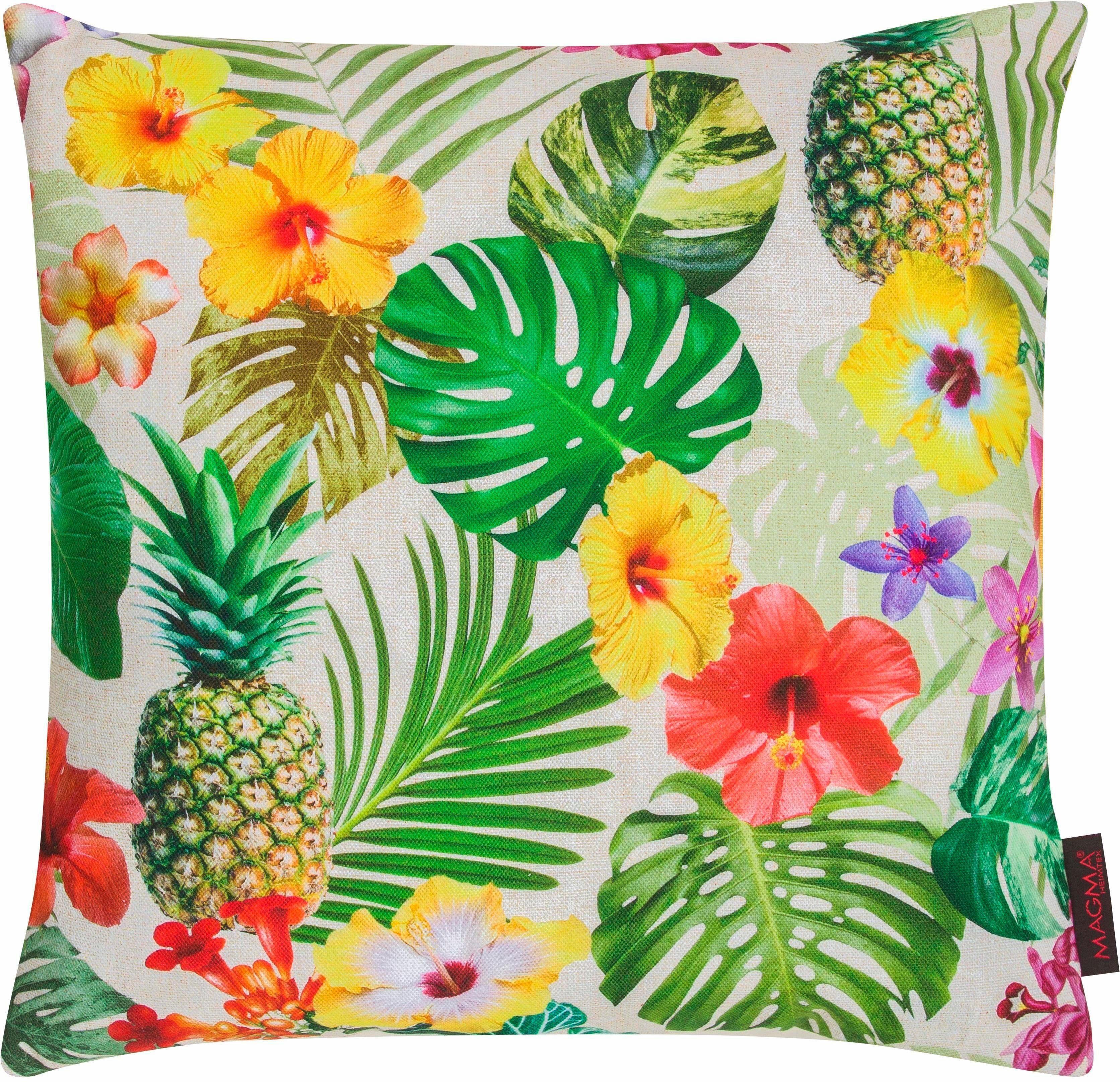 Kissenhülle, Magma Heimtex, »Tropical«, mit Ananas Motiv