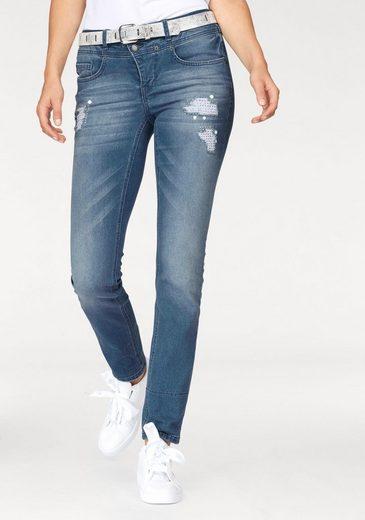 Laura Scott 7/8-Jeans, mit aufwendigen Details