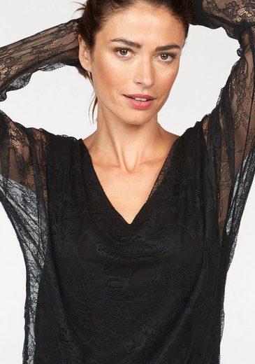 Laura Scott Spitzenshirt, mit transparenten Ärmeln
