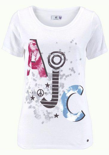 AJC T-Shirt, mit AJC-Print