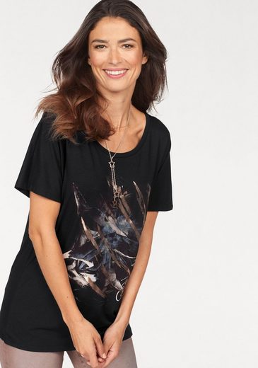Laura Scott T-Shirt mit modischem Glanzdruck