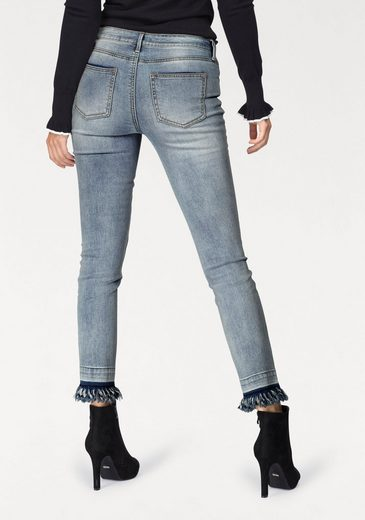 AJC Slim-fit-Jeans, mit Fransensaum