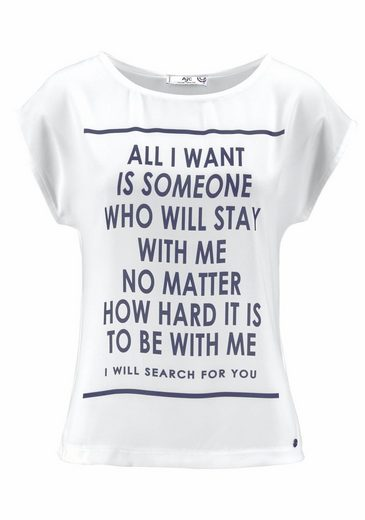 AJC T-Shirt, mit Statement Print