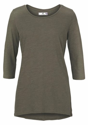AJC 3/4-Arm-Shirt, hinten Zierknopfleiste mit Metallösen
