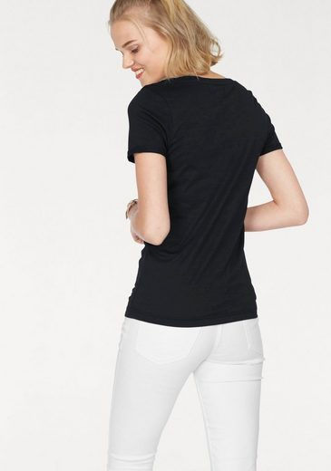 AJC T-Shirt, im Doppelpack, mit umgeschlagenen Ärmeln