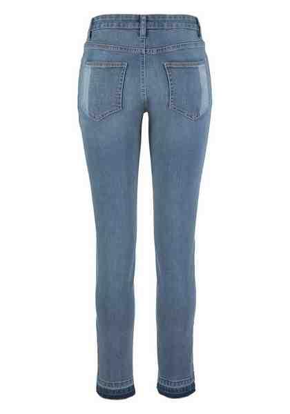 AJC Slim-fit-Jeans, mit Fransenkante am Saum