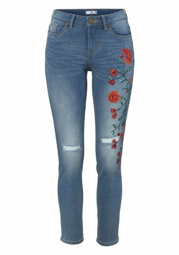 Ajc Slim-fit Jeans, With Beautiful Embroidery