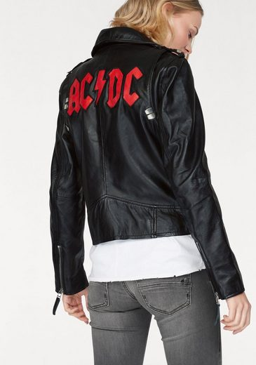 Gipsy 2.0 Lederjacke AC/DC, mit rockigen AC/DC und Metalldetails
