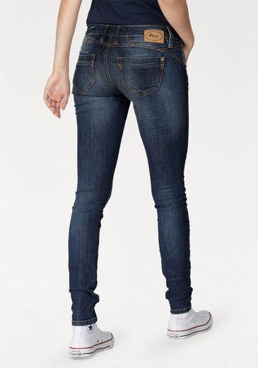 GANG Skinny-fit-Jeans »NENA« in Crash Optik